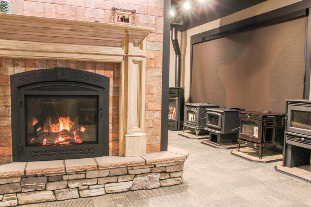 Stop in to our showroom to see many of our fireplace options in person.