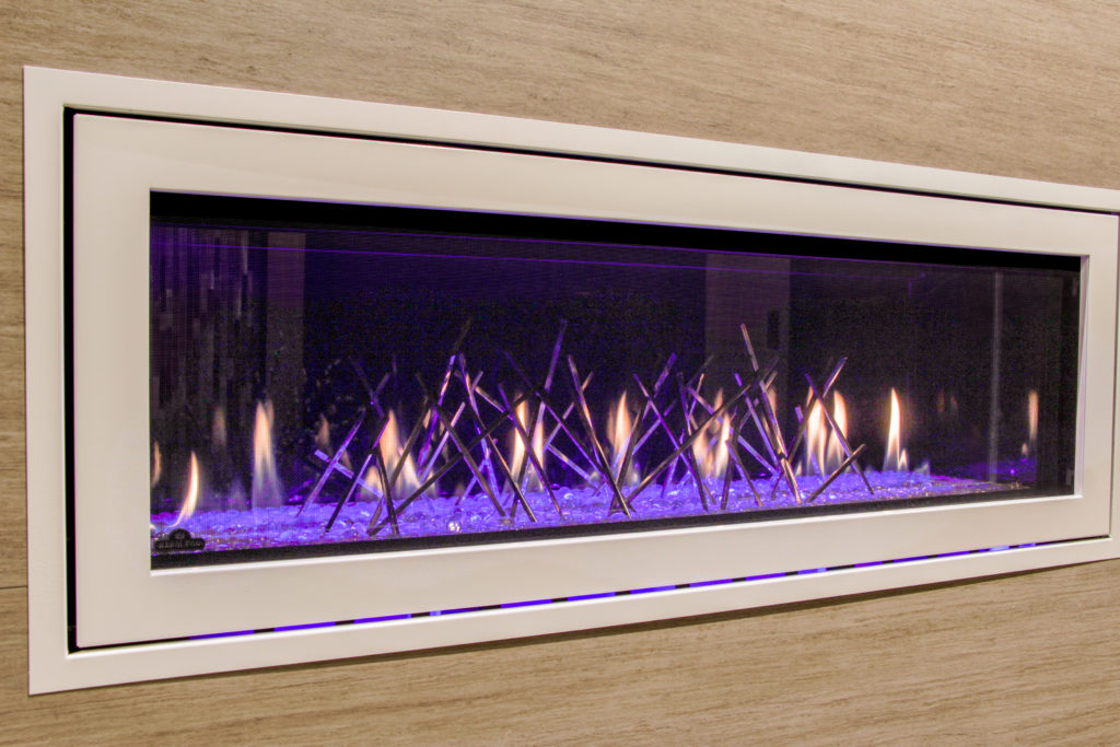 Electric fireplaces with beautiful media kits make a stunning statement.