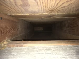 Photo taken after duct cleaning was completed.